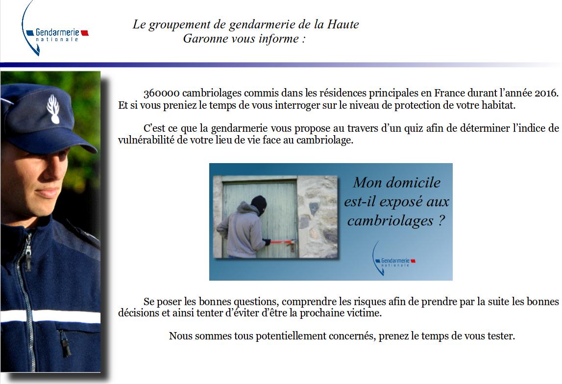 Quiz gendarmerie